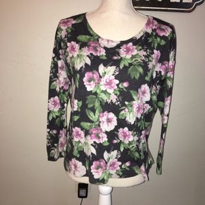 """Joie """"Emele"""" Floral Sweater Size Large"""
